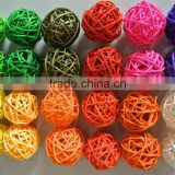 Hot sale High quality natural rattan ball Wicker Xmas & Wedding decoration ball
