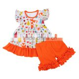 Baby Girls Cotton Ruffle Outfits Owl dress Kids Boutique Outfit toddler girl clothes