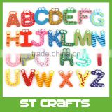 Children's Toys 26 Wooden English Alphabet Fridge Magnets 26 pcs/ set Puzzle toys for Kids