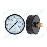 Stainless Steel Pressure Gauge With brass material , back and bottom 3/8 1/2 BSP, NPT, PT