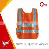 High Visibility 80G Net Orange Kids Safety School Warning Vest With Sides Magic Tape