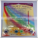 six colors for transparent suncatcher