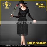 Wholesale high quality new lace skirts womens A-Line hollow out OL pencil long skirts