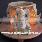 Antique Aroma Oil Stone Lamps