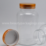100g Plastic PET Medicine Capsule Bottle With Metallic Cap