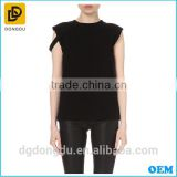 2016 With Competitive Price Lady Simple Black Casual T-shirt