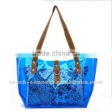 2013 new fashion blue clear pvc bags suppliers
