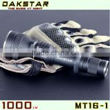 DAKSTAR MT16-1 CREE XM-L U2 1000LM 18650 Rechargeable Side Switch High Power Stepless Dimming Police High Beam Flashlight