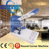 Desktop manual 2 in 1 hole puncher and edge banding corner rounding machine full