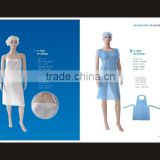 PP & SMS & PE coated PP & Microporous & PE & PVC apron coat