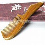 100% Handmade Sandal Wood Comb with handle Aromatic Smell