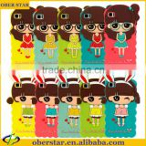 Cute girl Cartoon silicon soft case For xiaomi Mi3