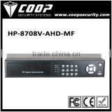8CH AHD 1080P realtime standalone DVR CVI TVI DVR cctv recorder IP security system