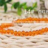 Red Apricot 2mm to 12mm 64 Colors Wholesales Factory Price Loose Crystal Facted Roundelles Glass Beads for Jewelry Cheapest