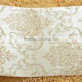 Luxury non-woven embroidery decorative wallpaper/wall covering