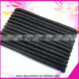 High quality elastic hair rubber bands for girls, black hair ties