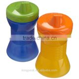 Best Selling Spill proof sippy cup/Kids Plastic drink cup/plastic reusable Toddler Cup /Easy Drink cup BPA free