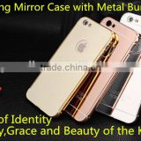 2016 New premium quality factory prices shinning mirror and metal bumper case for iphone 6 6s 6 plus 6s plus