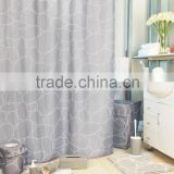 Pebble Stone shower curtain with bath mat set and match ceramic bath accessories set