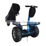 Cheap fashion mini electric golf carts,two wheel balance electric scooter with golf bag carrier 72V lithium battery