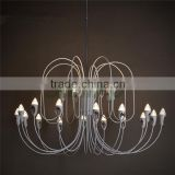 Contemporary Type chandeliers lighting/aluminum chandeliers lights/with LED pendant lamps