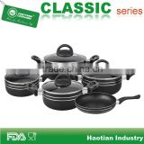 9pcs Aluminum non-stick cookware set, kitchenware set