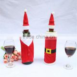 Christmas red wine bottle sets,Christmas clothes red wine bottles cover,red wine bottle bags