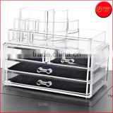 Clear Acrylic 5 Drawers Cosmetic Organizer for Vanity Cabinet Makeup box Jewelry chest Display Storage Holder Box