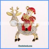 Wholesale Rhinestone Deer And Santa Claus Christmas Jewelry Pendant MP-005
