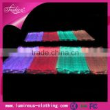High tech optic fiber luminous 7 color guinea brocade fabric lady dress