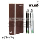 Sailebao ego v v3 mega,1300mah LCD 3-6v variable voltage battery,3-15w variable watt battery with atomizer ohm meter