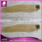 blonde color 613 100 grams per set cheap 100% human hair clip in hair extensions for black women hot sale product for 2015