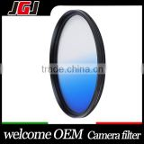 82mm Camera Filter Graduated Color Blue Lens Filter For Nikon D5100 For Canon 7D For Sony A850
