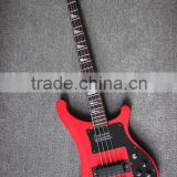 4 string Rik black hardware wine red colour electric bass guitar