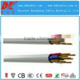 3 core pvc insulated sheathed flat cable 450/750v copper core pvc insulated flexible 1.5 mm copper wire