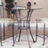 3 Pieces Metal Garden Furniture Wicker Terrace Dining Set/Conversation Patio Furniture Factory Direct Wholesale