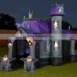 Hot halloween inflatable haunted house yard decoration,halloween castle