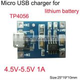 special charging board TP4056 1A lithium battery charging module electrical impulse MICRO interface Mike USB