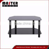 Lcd Tv Floor Stainless Steel And Glass Hotel Tv Stand
