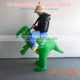 funny t-rex costume inflatable dinosaur costume in stock