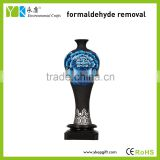 Blue hibiscus resin art and collectible home decoration fancy single flower wholesale China vase