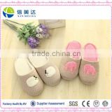 The elephant fluffy slippers Female plush household indoor floor cotton slippers
