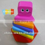 wood stacking blocks or tower and tumbler/roly-poly toy                                                                         Quality Choice