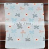 100% Cotton Printed Terry Cloth Blanket Customized Flower Towel 2015 High Absorbent Towel