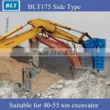 Supply BLTB175 Side breaker hammer used for breaking stones (hydraulic breaker) for 40-55 ton excavator