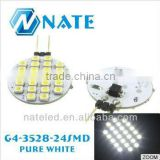 2014 whole sale china manufacturer direct selling12V household g4 led bulb 1210 24smd led lights bulbs white