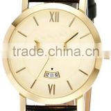 Vogue men watches with gold stainless steel case vogue watch 18k gold