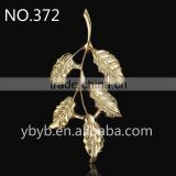 metal 3d leaf pendant Applique garment accessories in trimming -372