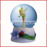 Fantastic custom little fairy polyresin snow ball