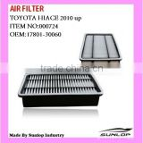 toyota parts commuter Air Filter Hiace 2010-2013 hiace quantum body parts OEM:17801-30060